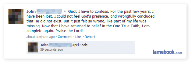 Lamebook Funny Facebook Statuses Fails Lols And More The Original April Fools Wrap Up