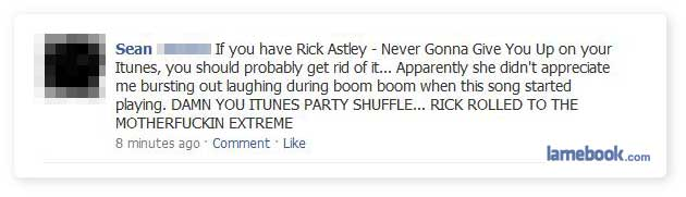 Rick ROFL'n