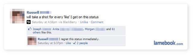 A Sloshy Status