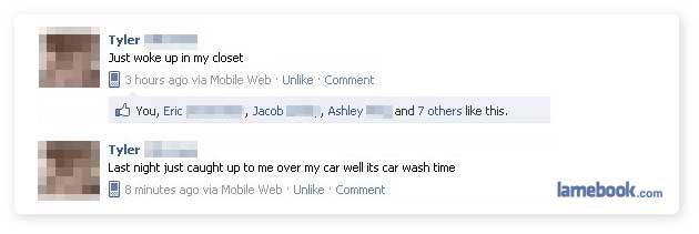 Facebook from Last Night