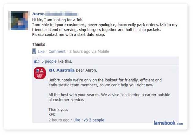 Updating status in Australia