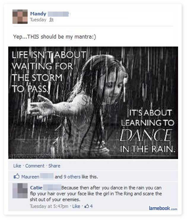 Dancin' in the Rain!