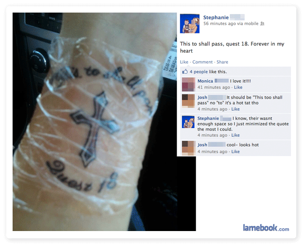 This Tattoo Shall Fail
