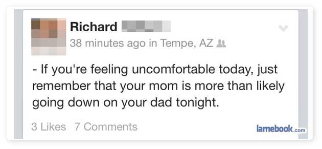 Uncomfortable?