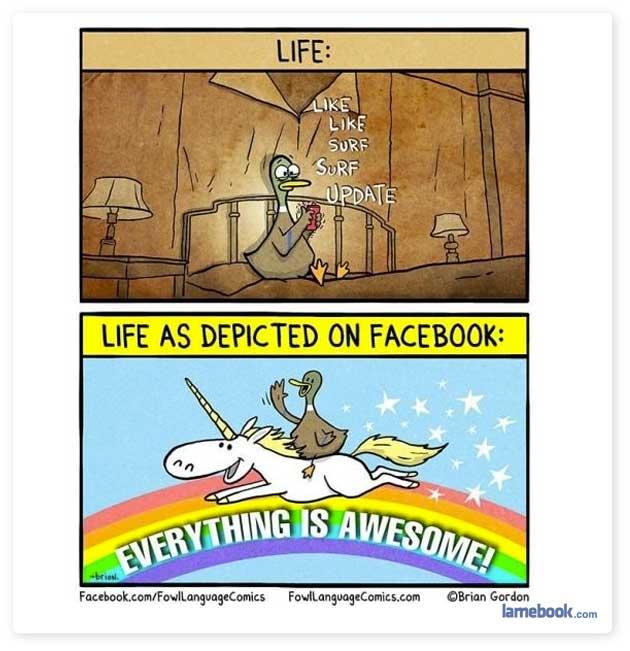 Life vs. Facebook Life