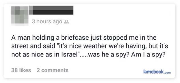 Am I a spy?