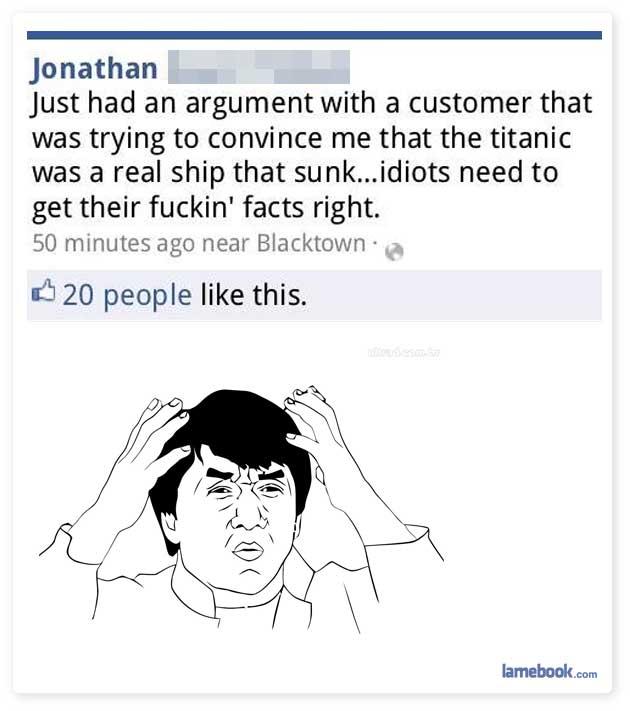 Titanic Idiot
