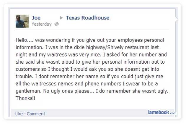 Joe, the charmer...