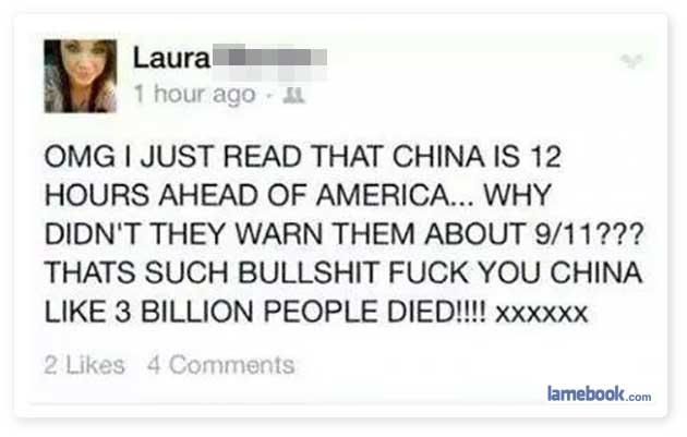 Way to go, China
