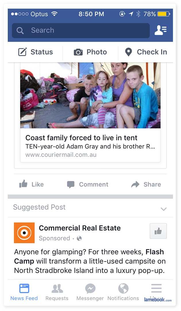 Real sensitive, Facebook...