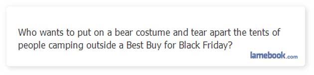Black Bear Friday