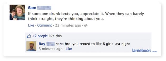 Having Drunk Text