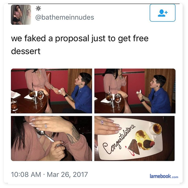 Proposing We Get Dessert