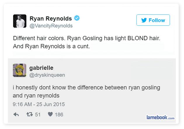 Ryan Reynolds vs Ryan Gosling